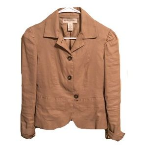 Banana Republic Tan Three Button Blazer
